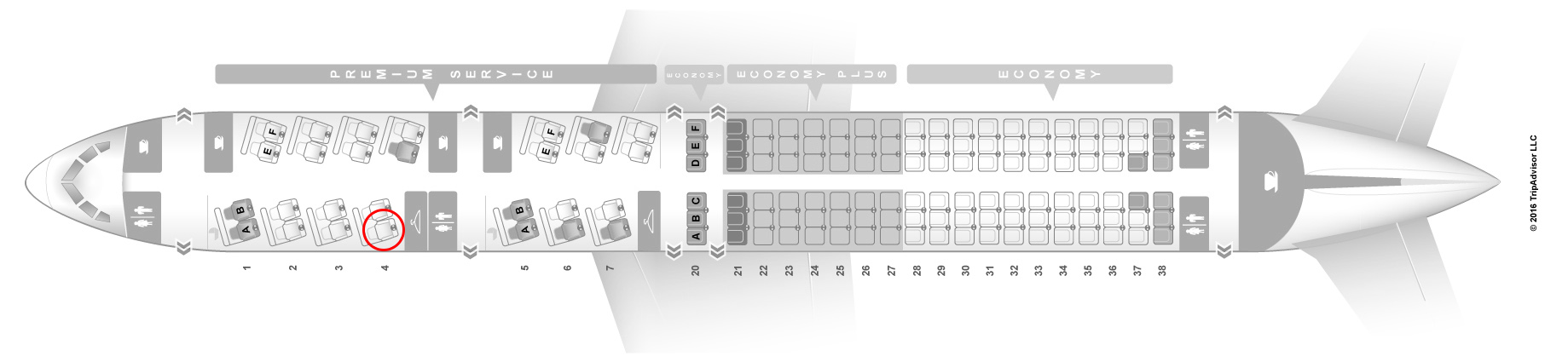 united airlines 757-200 seat map premium configuration