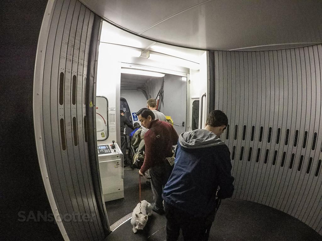 Boarding United 737 SAN