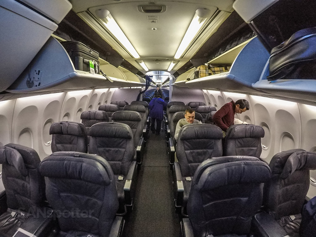 United Airlines 737-900/ER first class cabin
