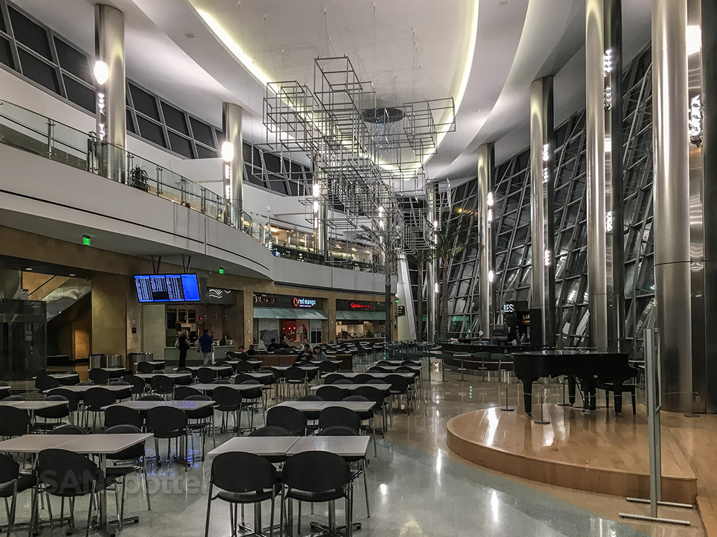 Empty food court San Diego international airport