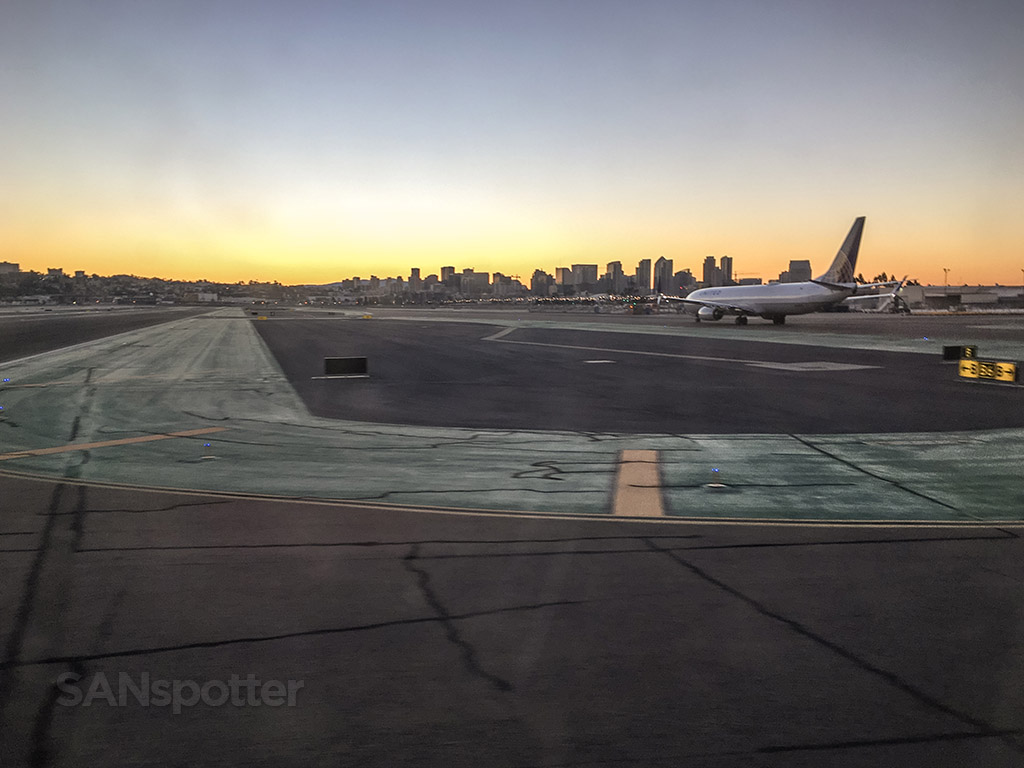 San Diego airport sunrise