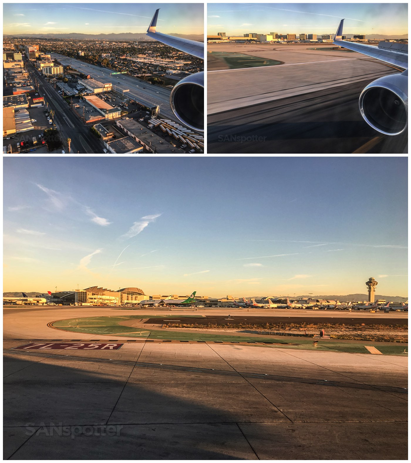 Approach and landing at LAX