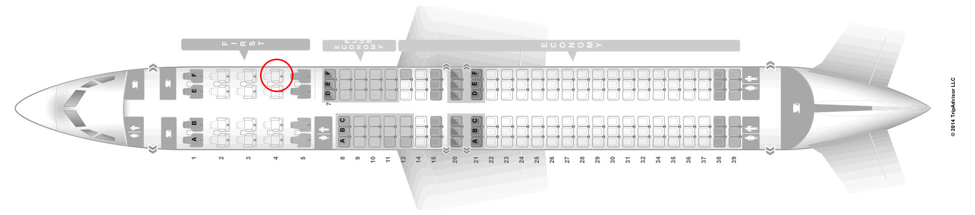 United 737-900 seat map