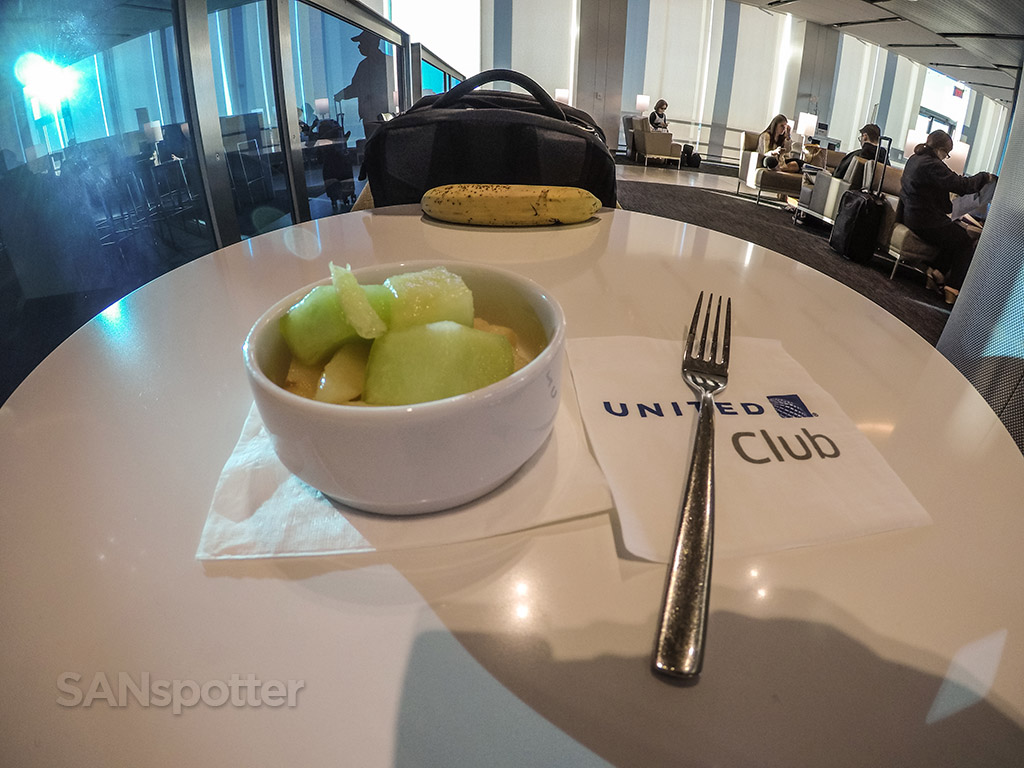 United club breakfast LAX