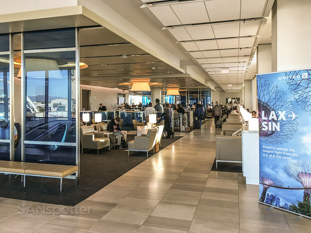 United club LAX front entrance