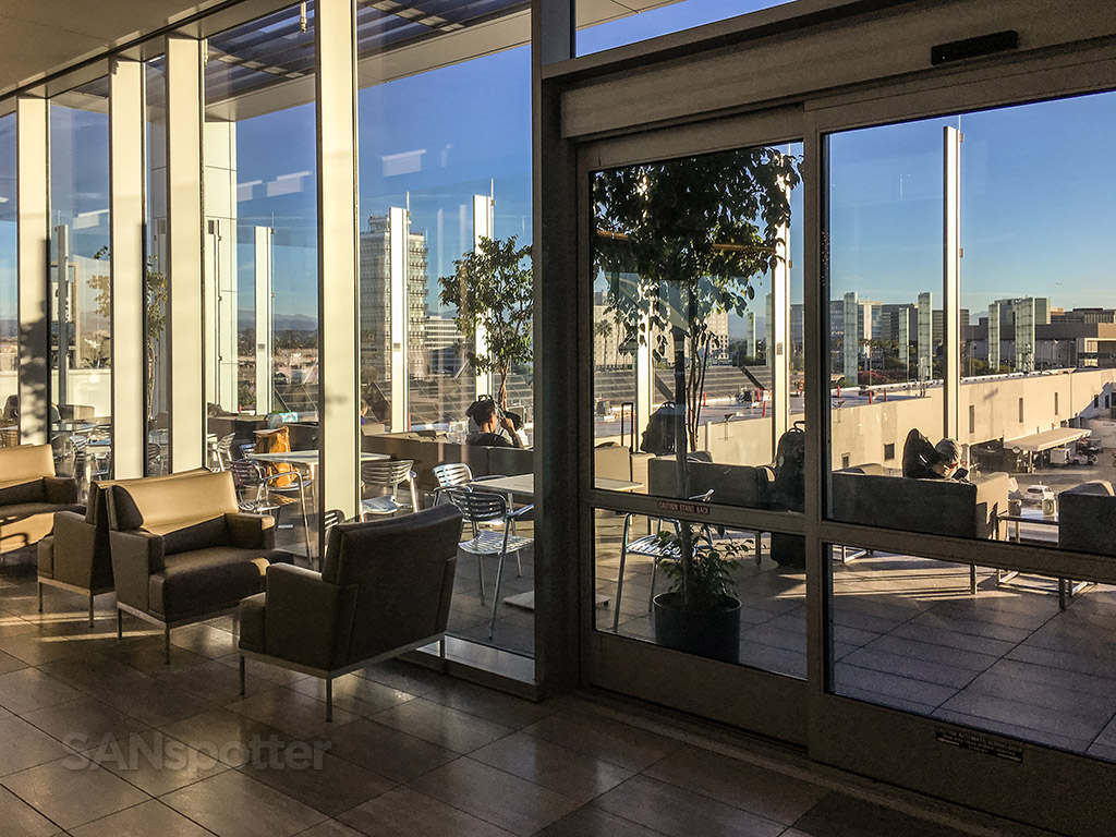 United club LAX outdoor terrace