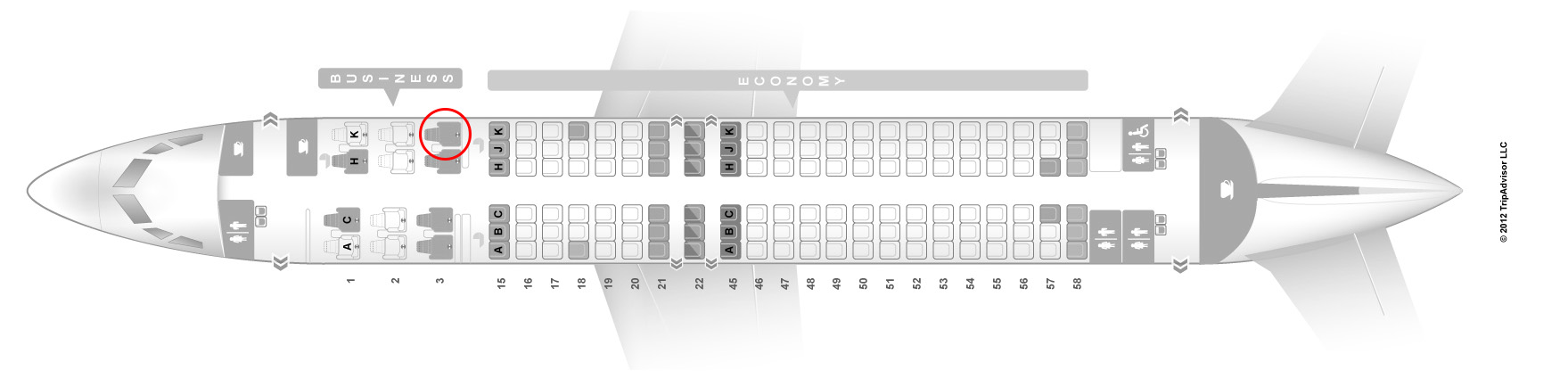 Japan airlines 737-800 seat map