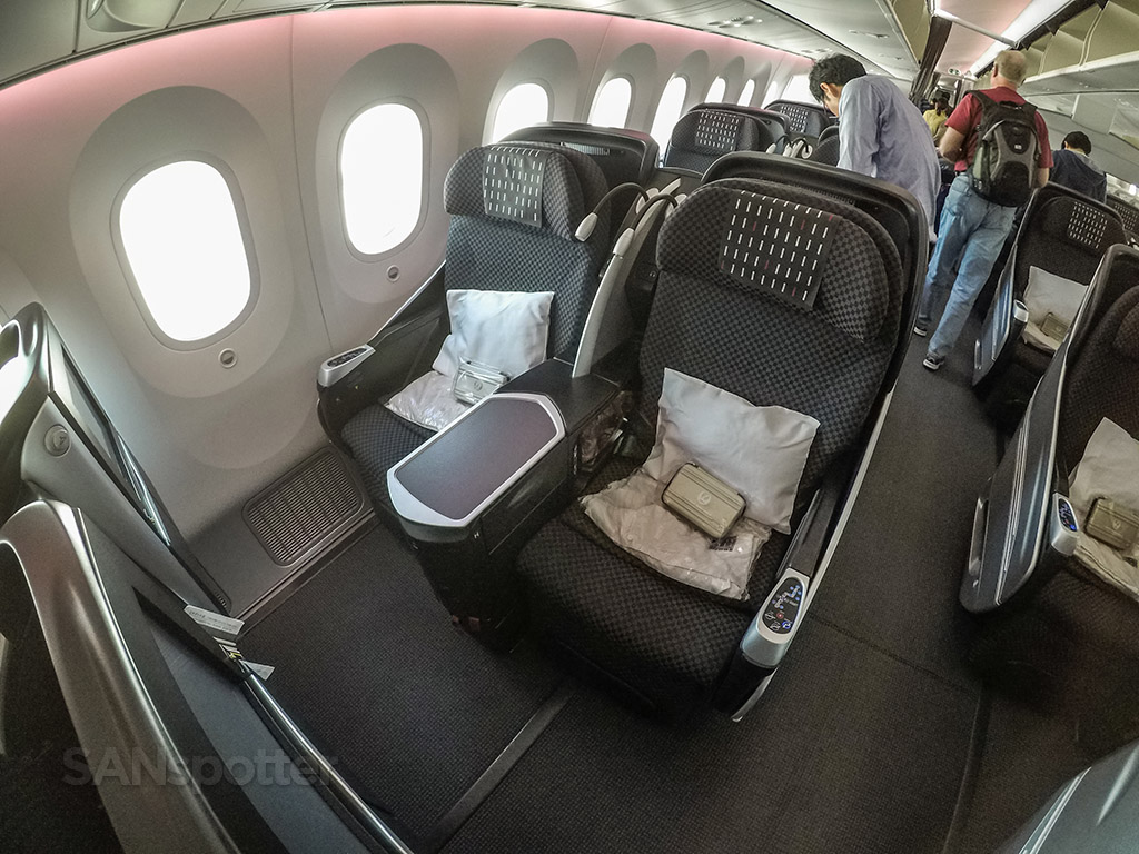 Japan Airlines 787-8 Shell Flat Neo business class seats