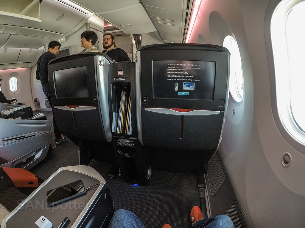Japan Airlines 787-8 Shell Flat Neo business class leg room