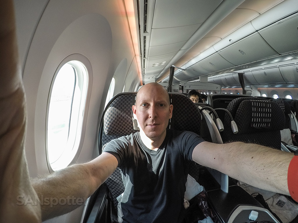 SANspotter selfie Japan Airlines 787-8