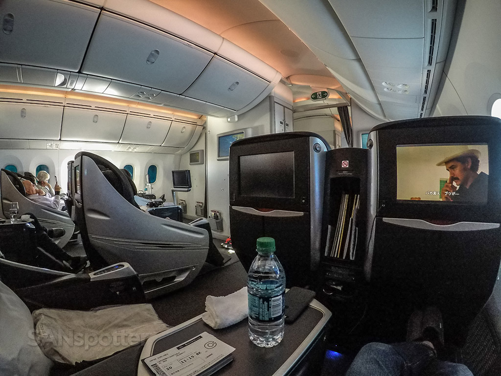 Japan airline 787 business class cabin view