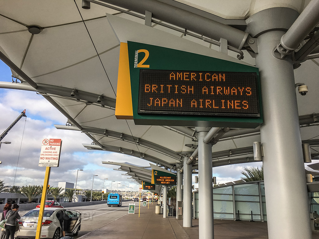 Japan Airlines departure SAN