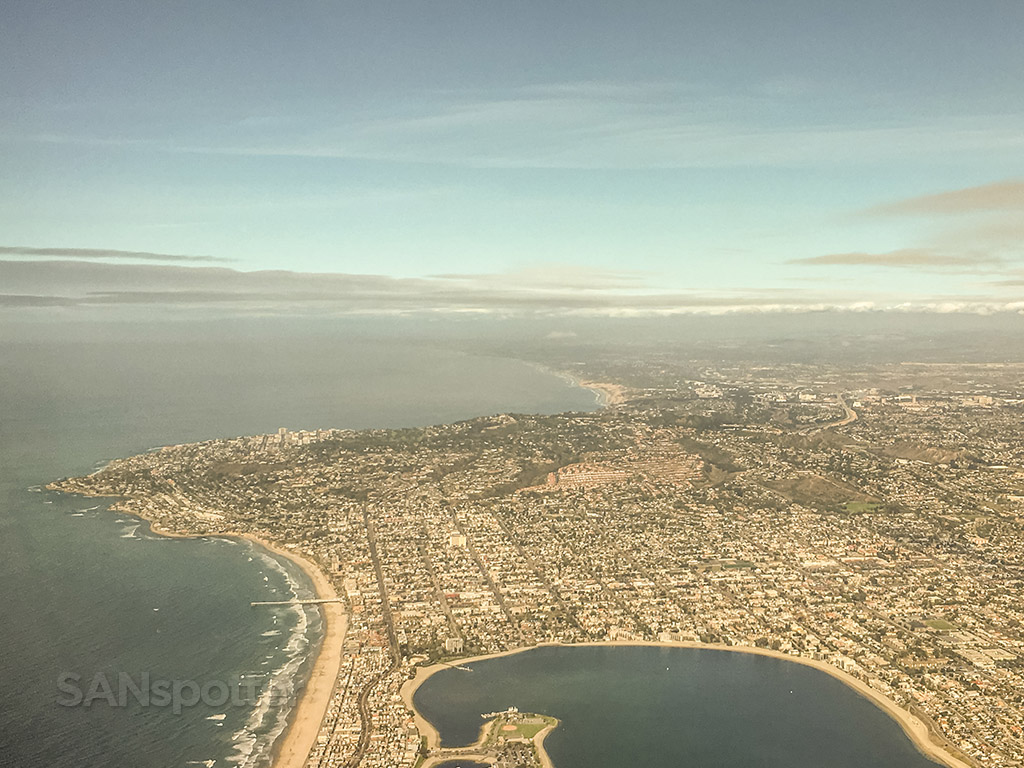 Taking off from San Diego