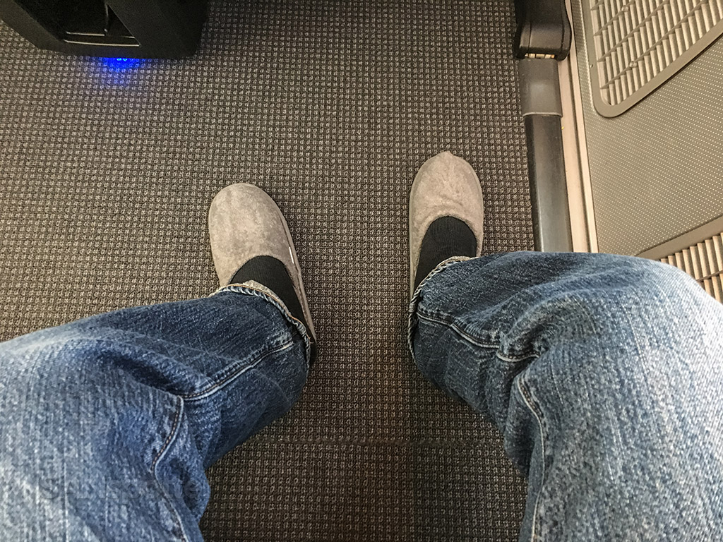 Japan Airlines business class slippers