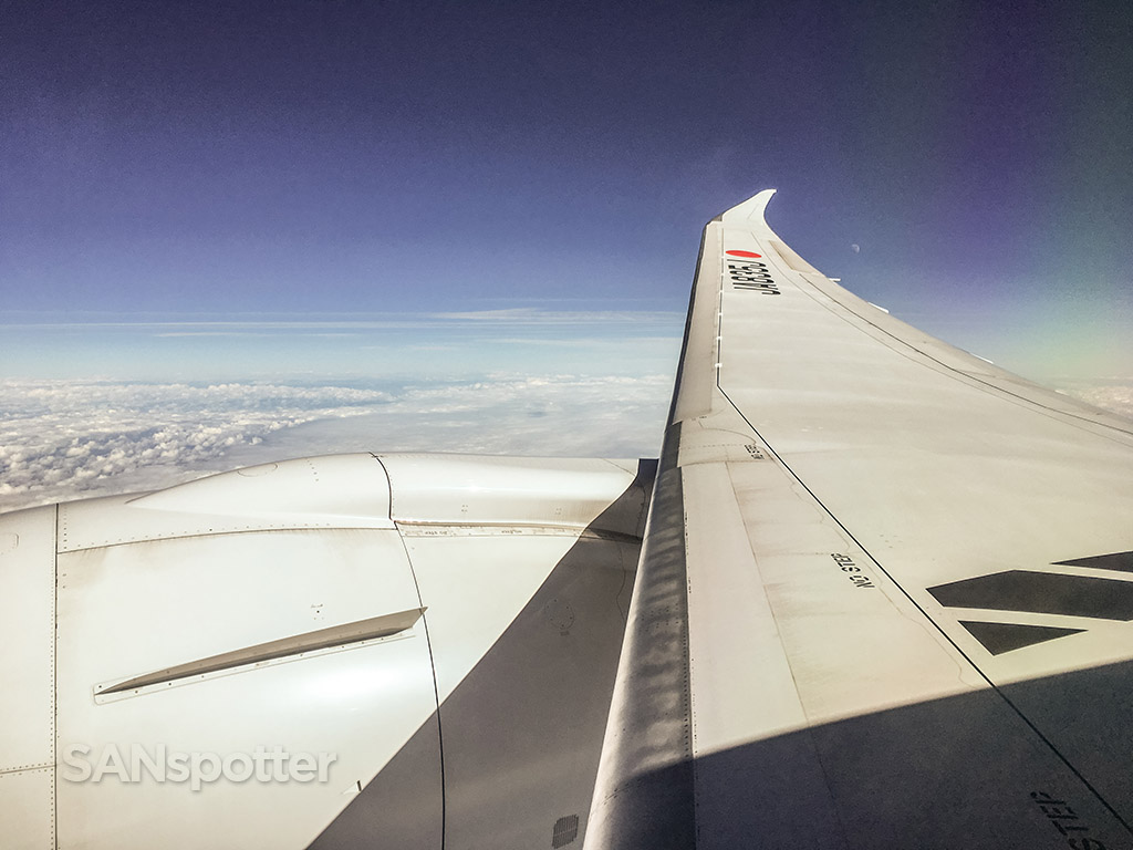 Japan Airlines 787 wing view