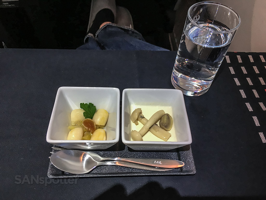Japan Airlines business class launch first course