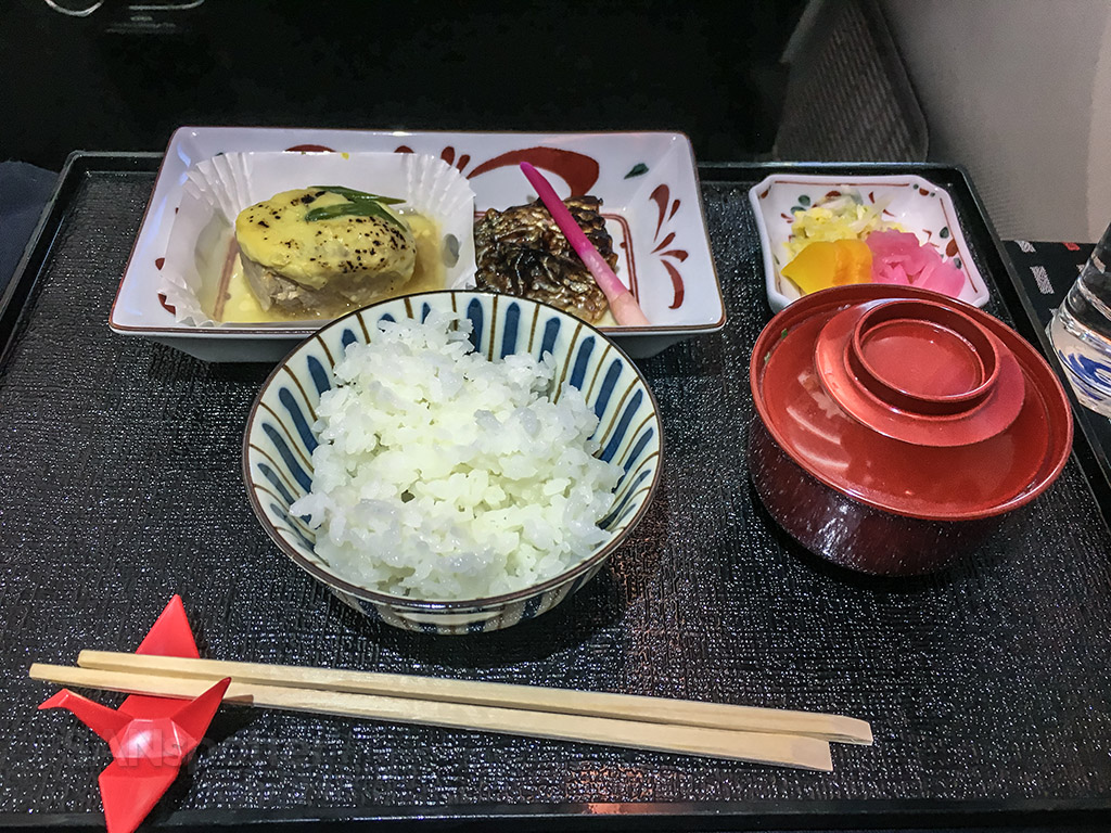 Japan Airlines business class lunch menu third course