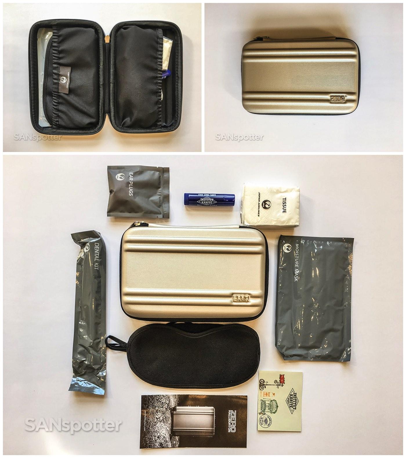 JAL business class amenity kit