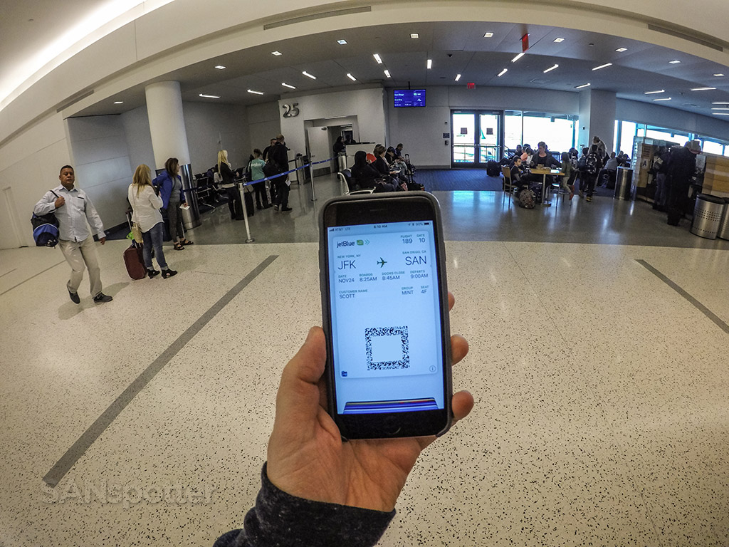 JetBlue mobile boarding pass