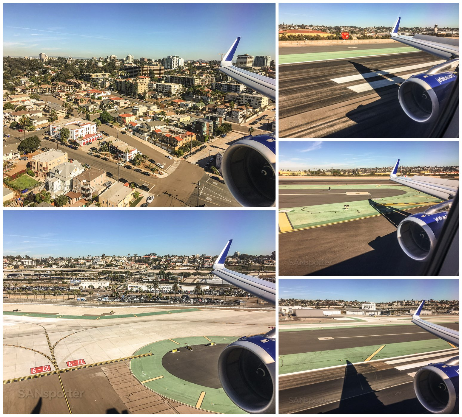 Landing at San Diego international airport