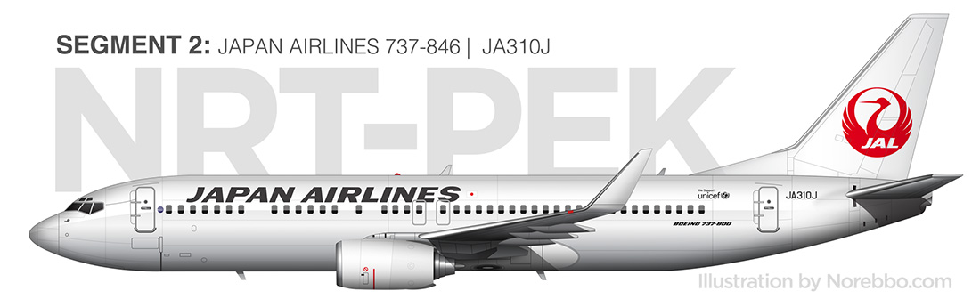 Japan Airlines 737-800 side view