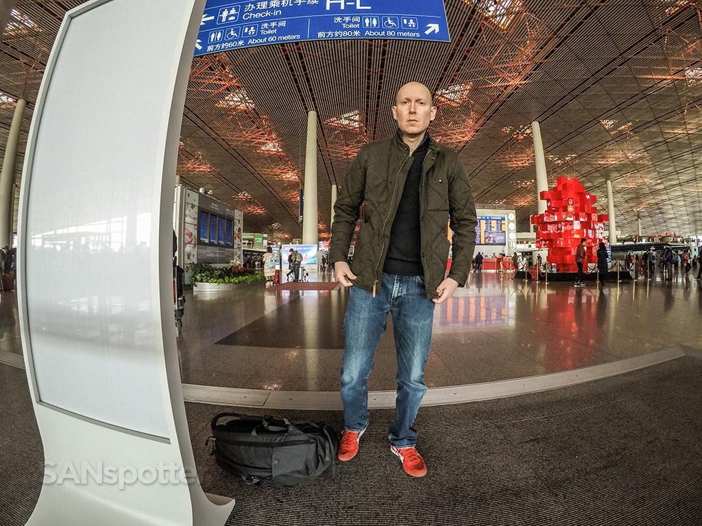 SANspotter selfie Beijing Airport