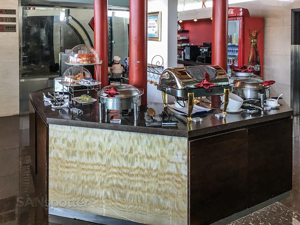BGS premier lounge Beijing airport food