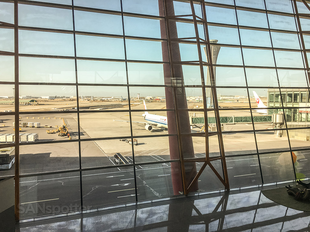 View from BGS premier business class lounge Beijing airport