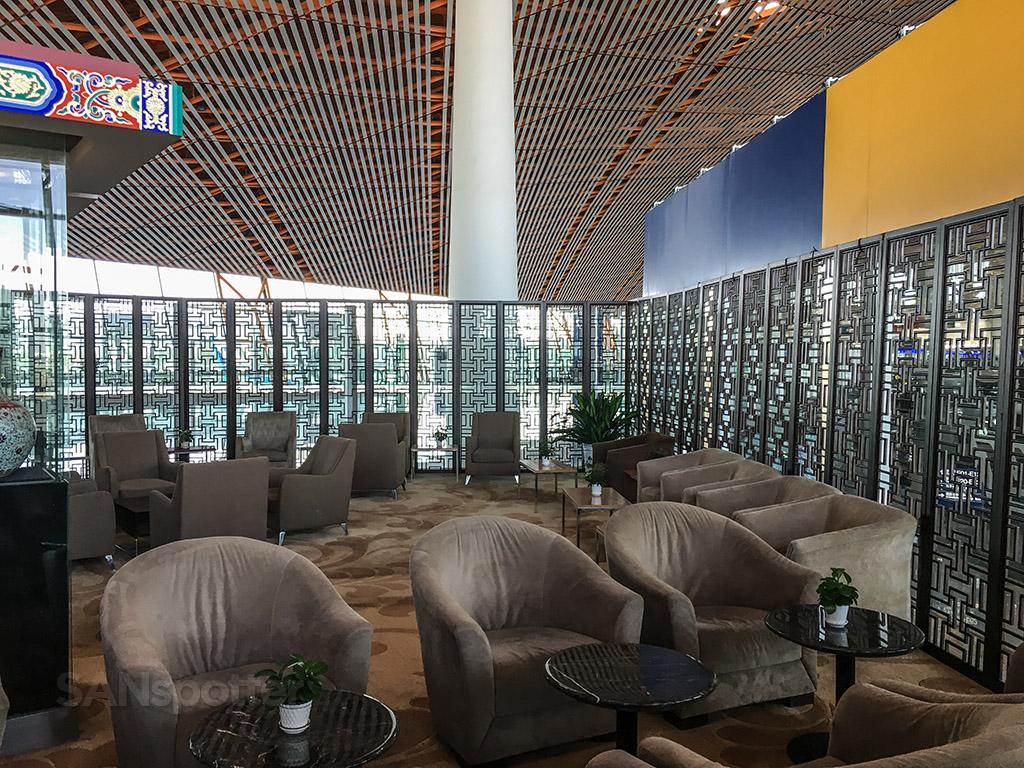 Empty BGS premier lounge Beijing airport
