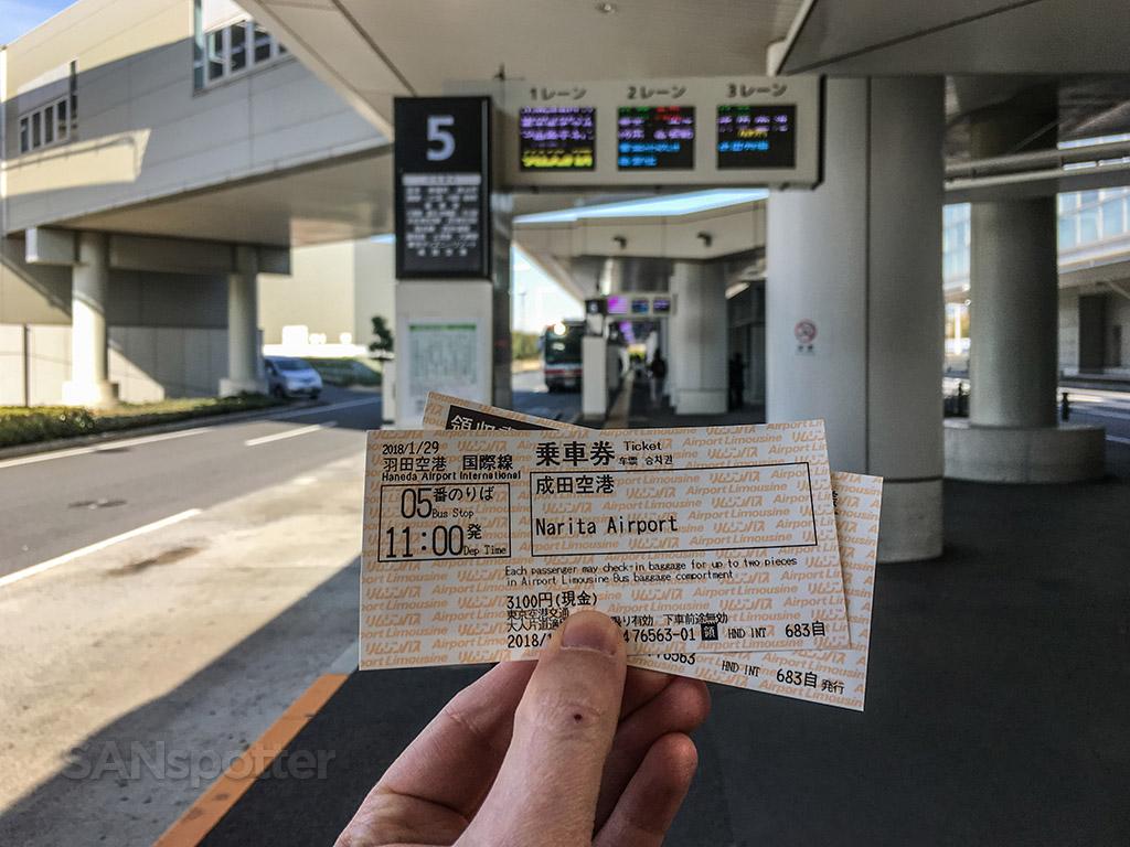 Narita airport bus station