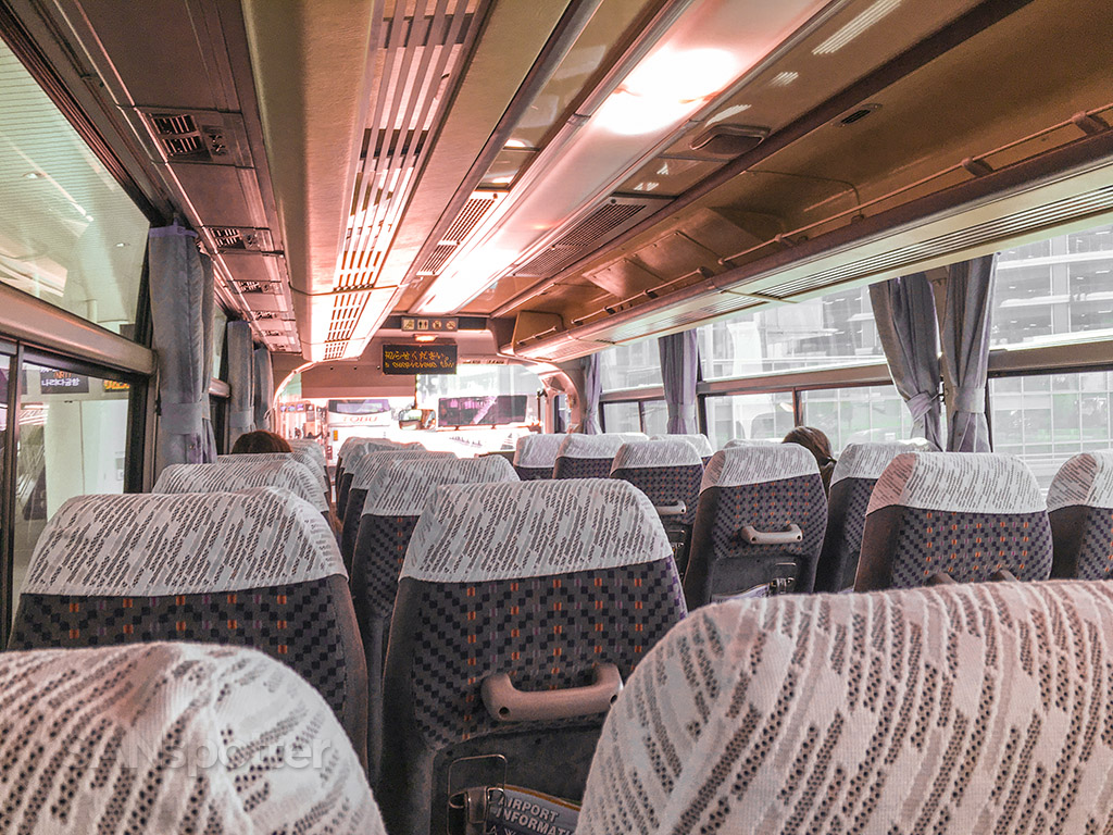 Interior of the Narita to Haneda transfer bus