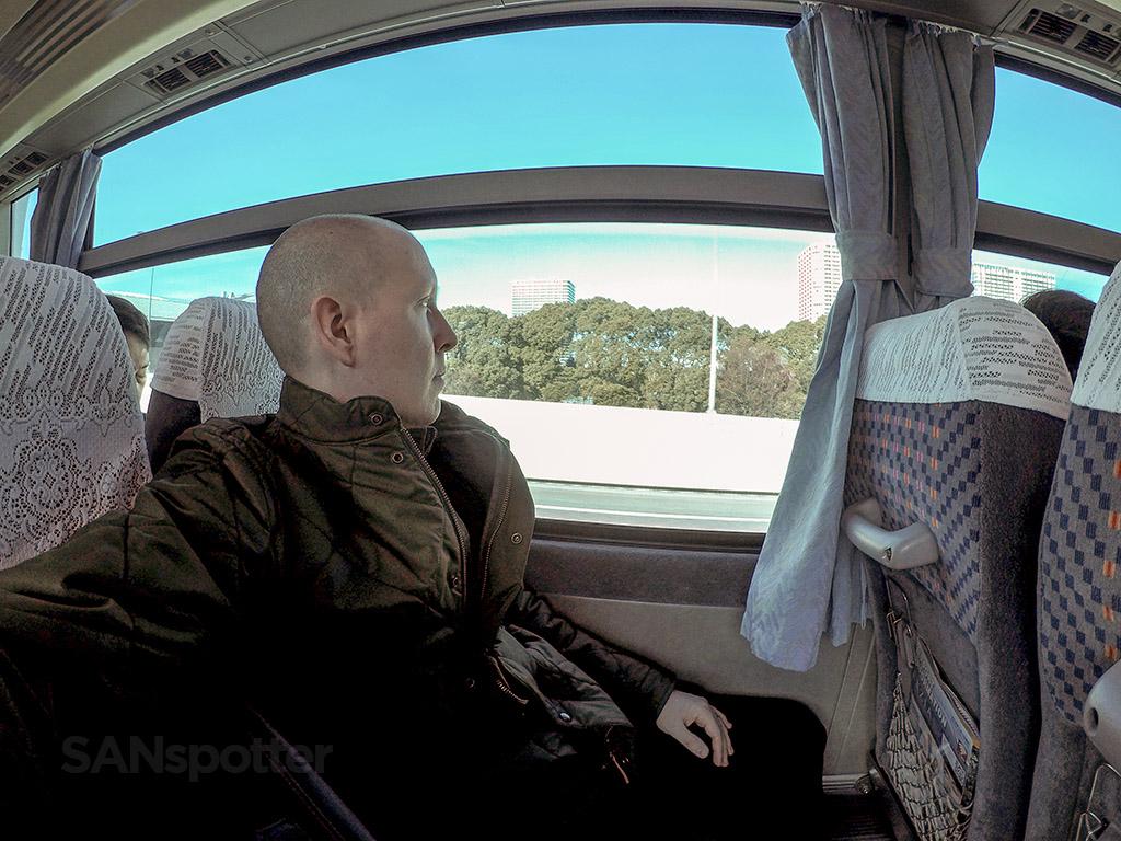 SANspotter selfie HND transfer bus