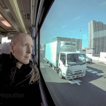 SANspotter selfie Haneda to Narita transfer bus