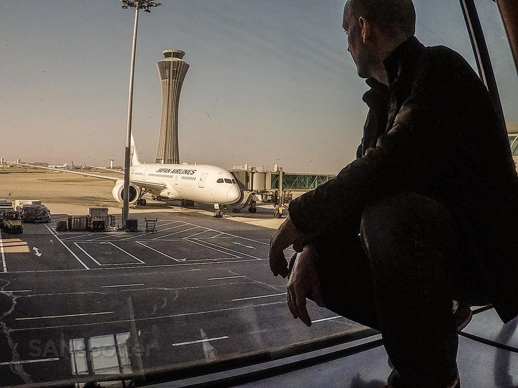 SANspotter selfie JAL 787 PEK