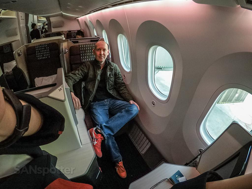 SANspotter selfie JAL Sky Suite