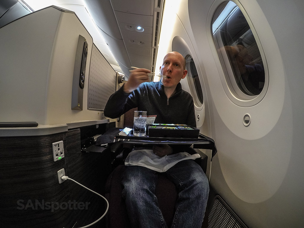 SANspotter selfie JAL Sky Suite Business class