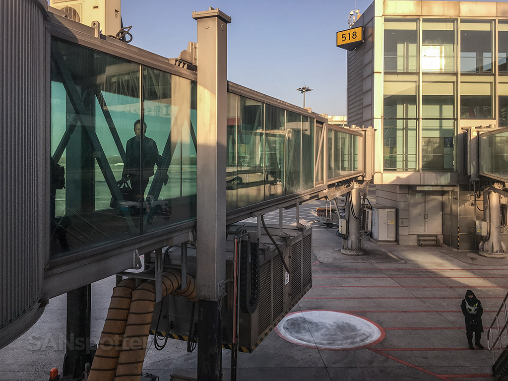 Beijing airport glass jet bridge