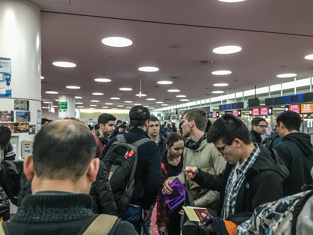 Tokyo Haneda passport Control line