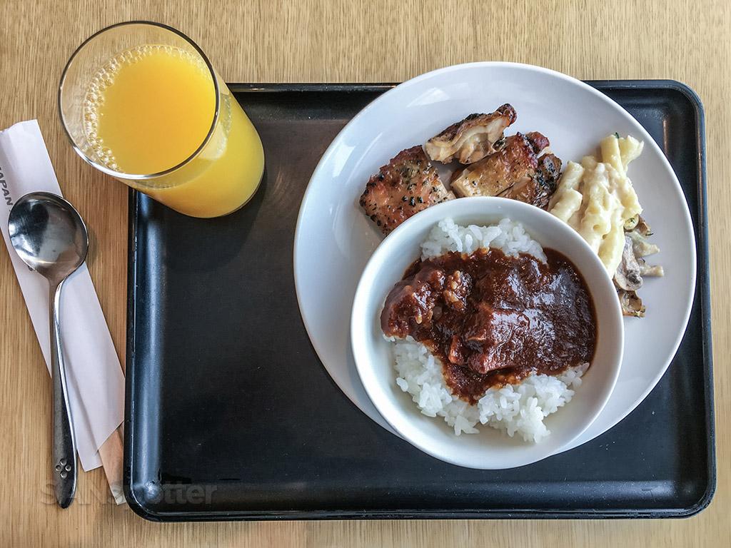 JAL Sakura Lounge lunch