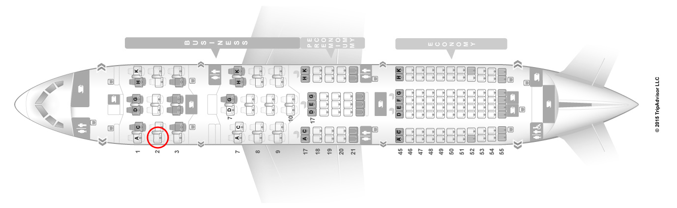 JAL 787 sky suite seat map