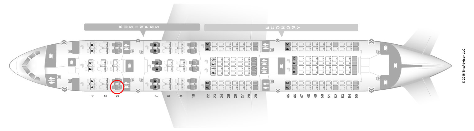 Japan Airlines 787-8 seat map