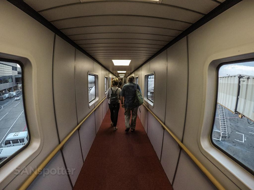 Narita airport boarding airplane