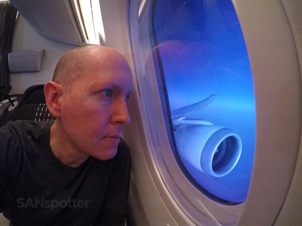 SANspotter selfie JAL 787