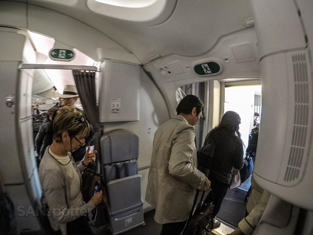 Japan Airlines 787 boarding door