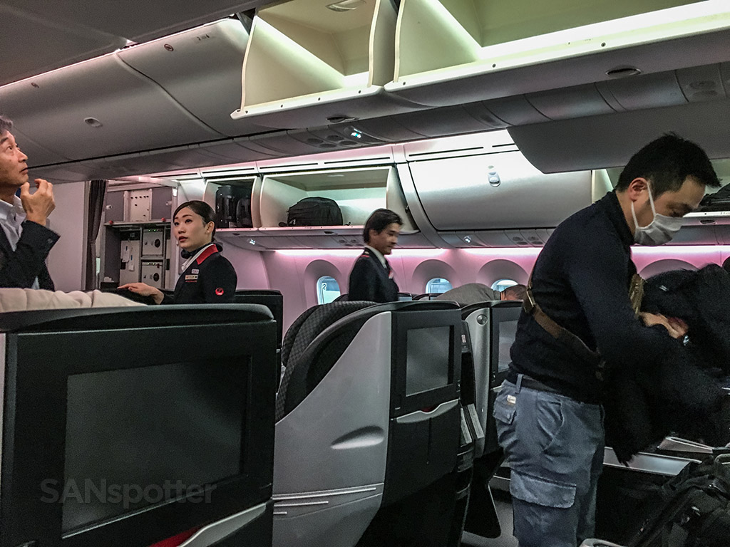 Japan airline 787–8 business class interior