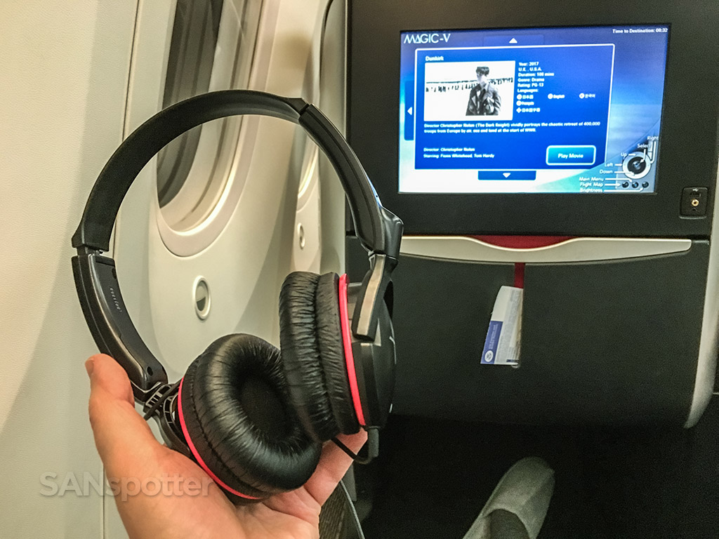 Japan Airlines business class noise canceling headphones
