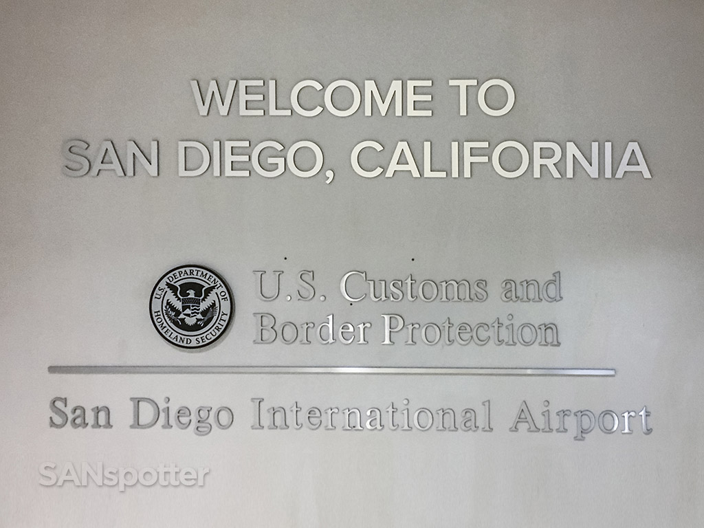 San Diego airport passport control entrance