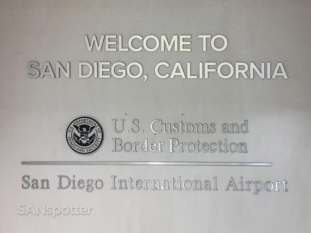 San Diego airport passport control entrance