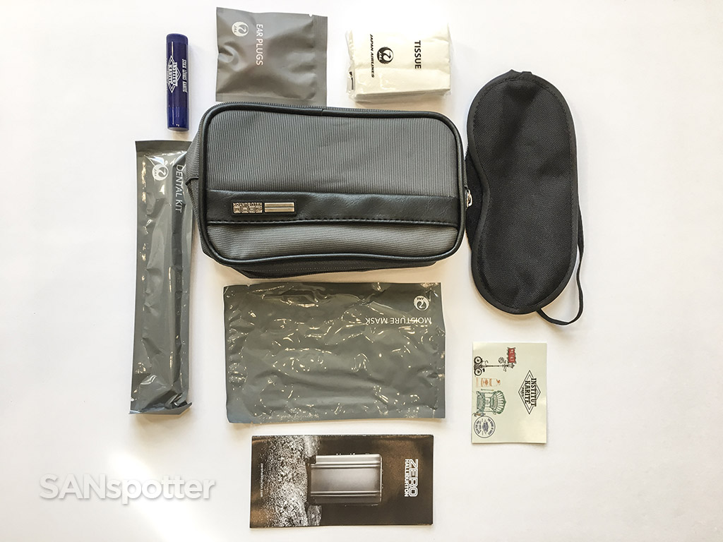 Japan AirlinesBusiness class amenity kit contents