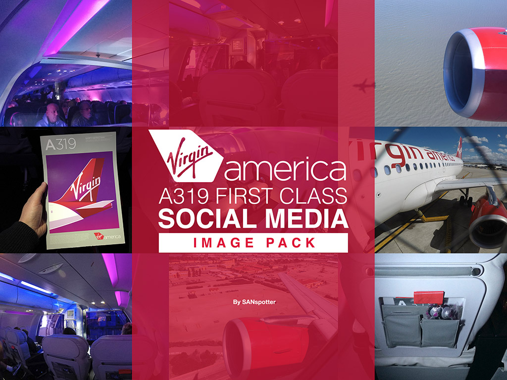 Virgin America social media image pack